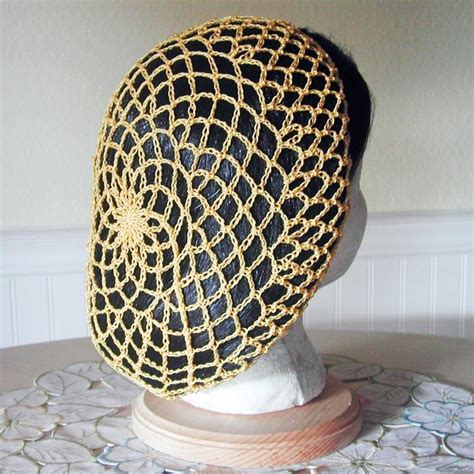 pattern for snood hair net snood hair net golden yellow crochet knitting