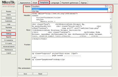 membuat voucher hotspot mikrotik rb750 cara membuat voucher hotspot mikrotik via user manager