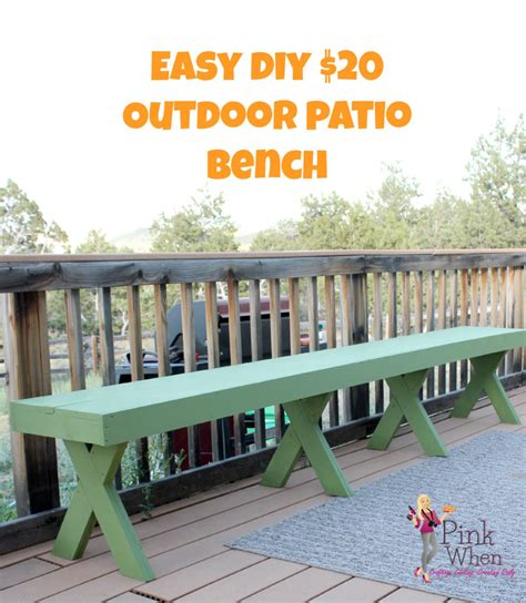 patio bench diy 20 diy garden and patio crafts to make your outdoor space