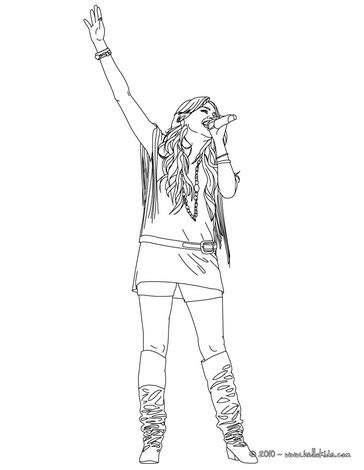 hannah montana miley cyrus 08 coloring page