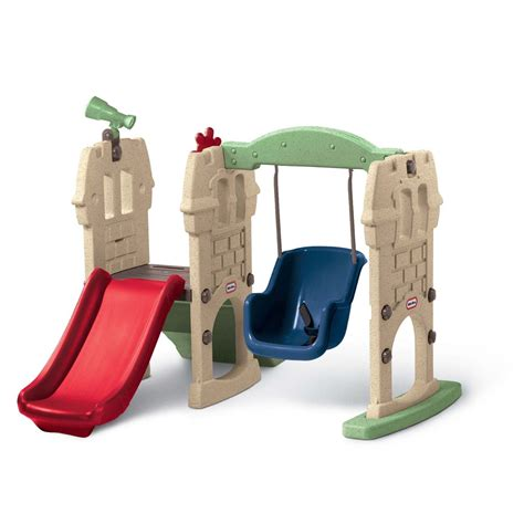 toddler slide and swing set little tikes endless adventures swing along castle review