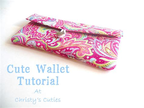 Handmade Wallet Tutorial - s cuties a wallet tutorial