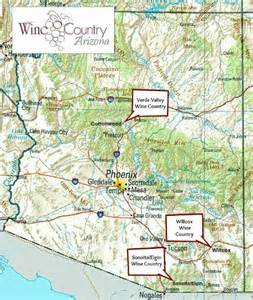 arizona vineyards map map of arizona vineyards my