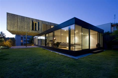 modern home design glass contemporary cantilever house design by paris architects