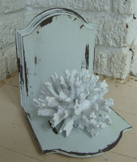 diy shabby chic coral bookends match made on hudson