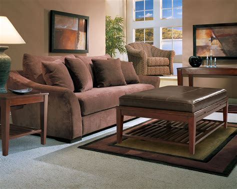 microfiber living room furniture microfiber sofa set classic brown two cushion seat brown