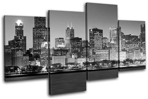 Canvas Wall Chicago chicago cityscape city multi canvas wall picture print