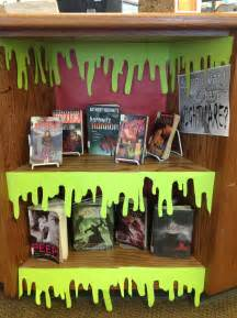 book display ideas halloween ideas for the library elementary librarian