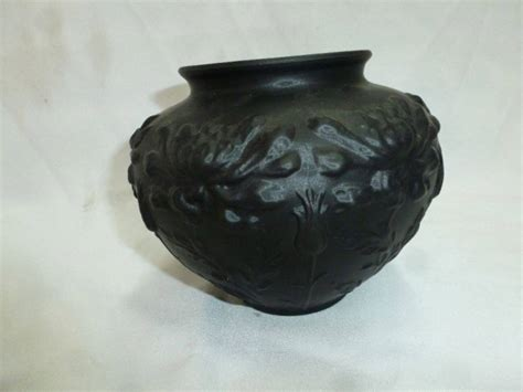 Black Amethyst Vase by Black Amethyst Tiffin Glass Poppy Vase