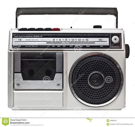 80s online radio 80s radio stock image image of metal black cassette