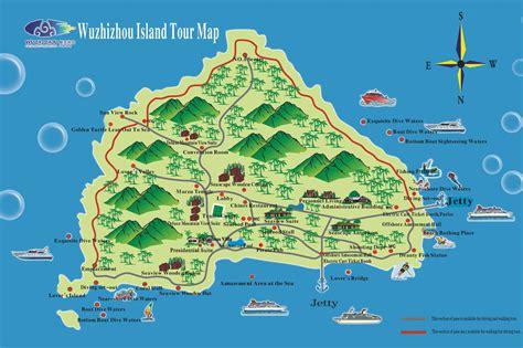 map of islands wuzhizhou island maps