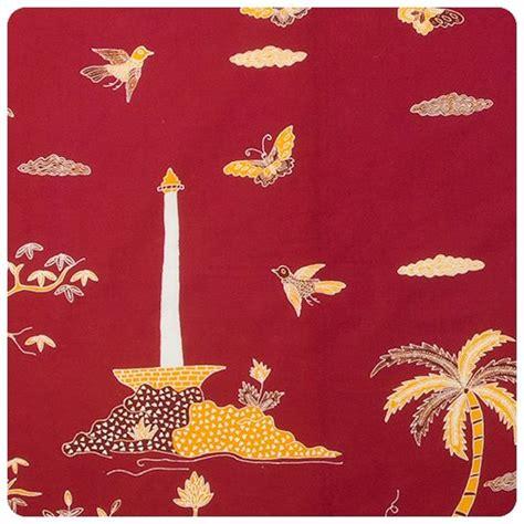 batik tulis monas betawi