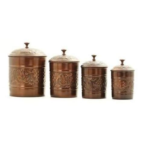 kitchen collectibles canister set antique collectible vintage copper finish