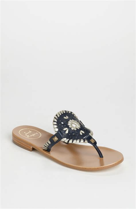 jacks sandals rogers georgica sandals in blue navy platinum lyst