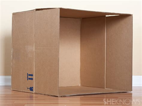 cardboard box house turn a plain cardboard box into a super cool playhouse with this easy diy