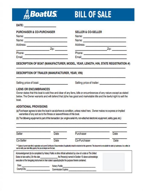 scdnr boat bill of sale 30 sle bill of sale forms
