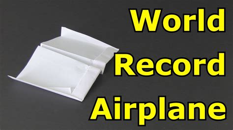 How To Make The Farthest Paper Airplane - how to make the flying paper airplane in the world