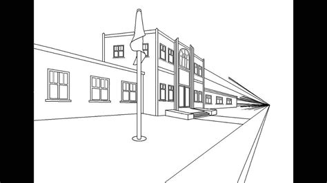Sketches School by How To Draw Springfield Elementary School With Microsoft