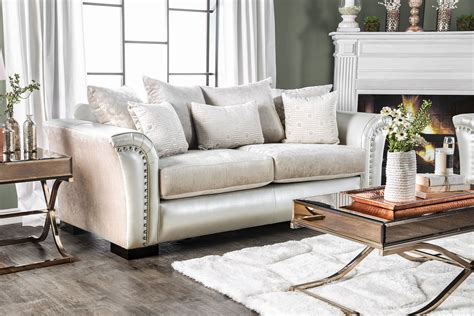 furniture of america sofa benigno pearl sofa from furniture of america coleman