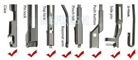 Wiper Blade Premium 14 Inchi Denso Nwb Original Dcp 014r multi fit flat wiper blades side pin bayonet pinch tab push button and slider buy pinch tab
