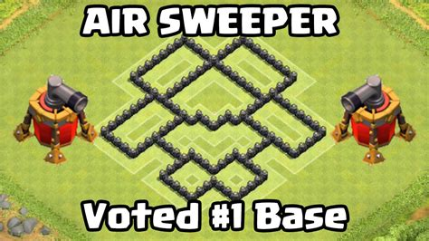 coc th6 layout with air sweeper clash of clans air sweeper th6 defense strategy best coc