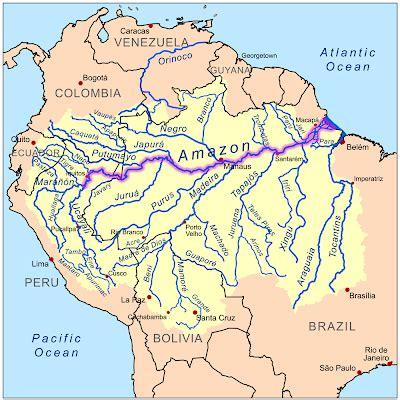 amazon river map rompedas grande rio