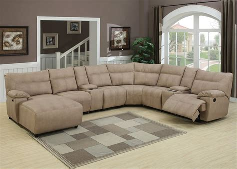 Microfiber Reclining Sectional With Chaise Sectional Sofas That Recline Norton Brown Microfiber