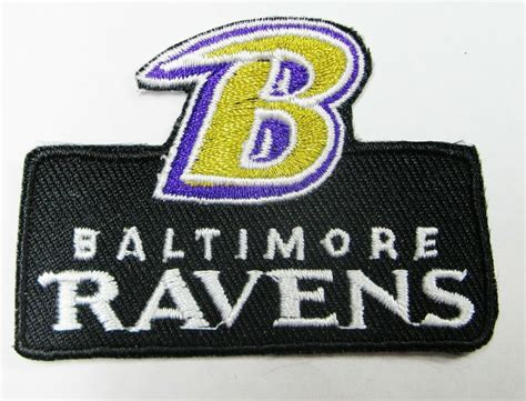 lot of 1 nfl b baltimore ravens embroidered patch