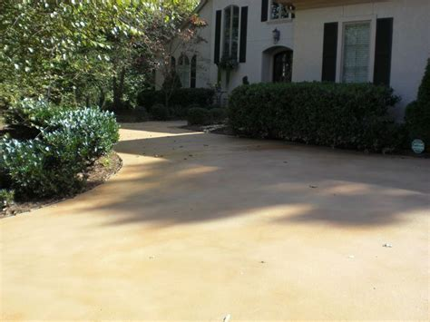 Semi transparent concrete stain in Desert Flagstone