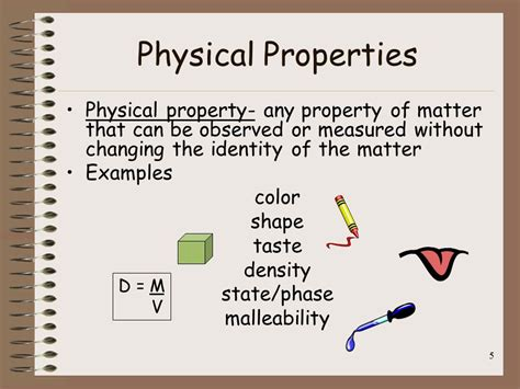 is color a physical or chemical property matter physical and chemical properties ppt