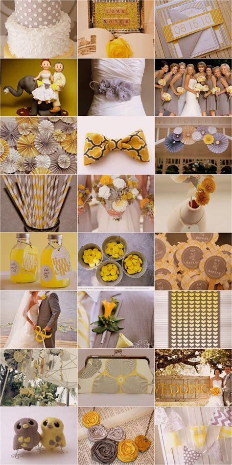 Yellow and Grey Wedding Theme   Wedding decor, stationary