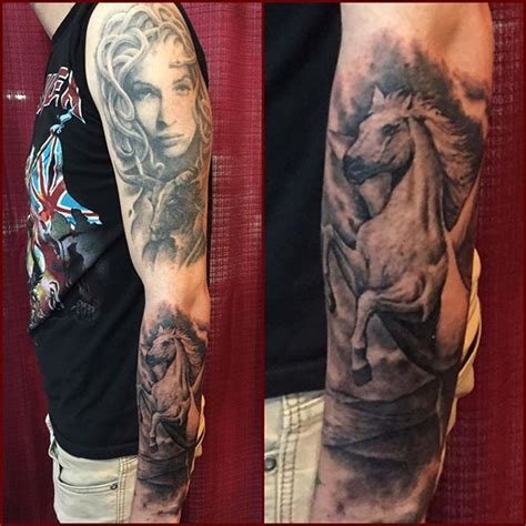 fascinating full sleeve medusa and ultimate flying pegasus