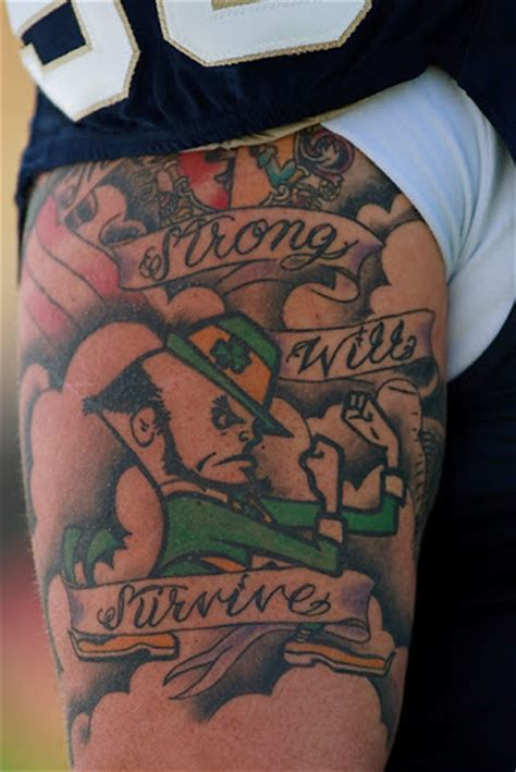 notre dame tattoo designs concept fighting tattoos