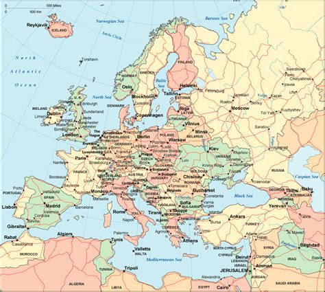 map  europe europe maps  geography