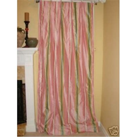 pink silk curtains drapes pink green stripe silk drapery panels drapes curtains