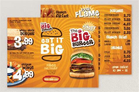 template design menu makanan contoh brosur makanan 2 uprint id
