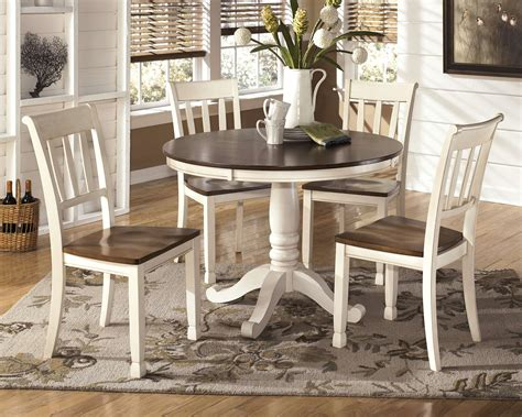 furniture whitesburg dining table signature design by whitesburg cottage white