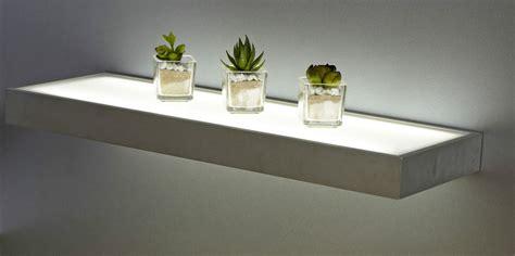 illuminated led box shelf floating shelf light 600mm wall