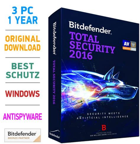 Kaps Security 2017 3pc bitdefender total security 2016 2017 3 pc 1 jahr multilingual sicherheitsl 246 sungen bitdefender