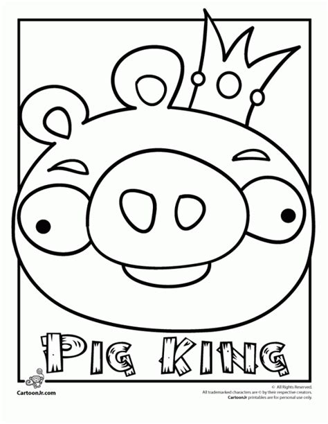 cute angry birds coloring pages king pig coloring pages quot angry birds quot
