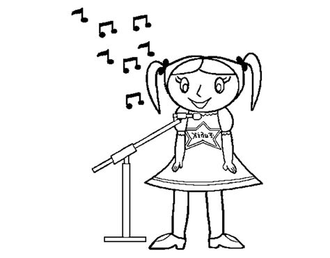 little girl singing coloring page coloring page harry potter owl pages 451375 171 coloring