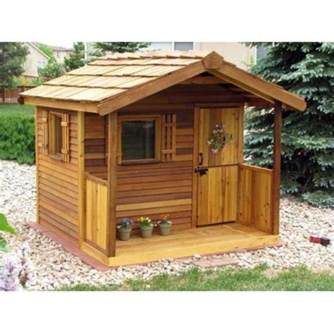 S Cabin Play cedar shed log cabin cedar playhouse outdoor playhouses at play houses back of the yard