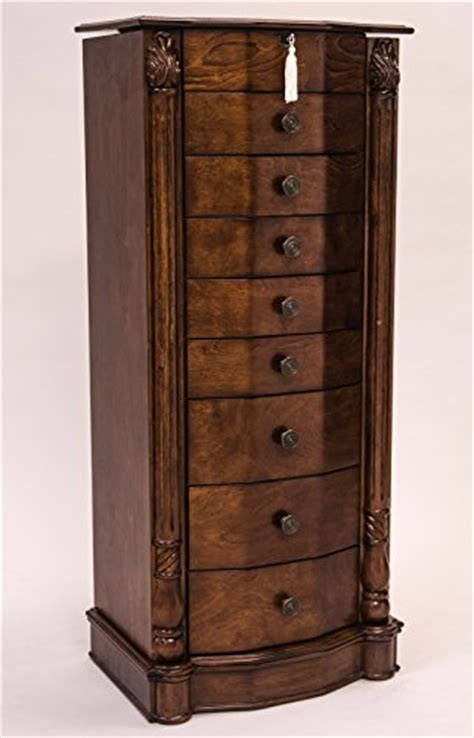 large jewelry armoire with mirror hives and honey large floor standing 8 drawer wooden