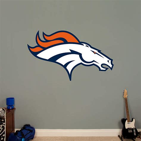 Denver Broncos Wall Decor by Denver Broncos Logo Fathead Wall Decal
