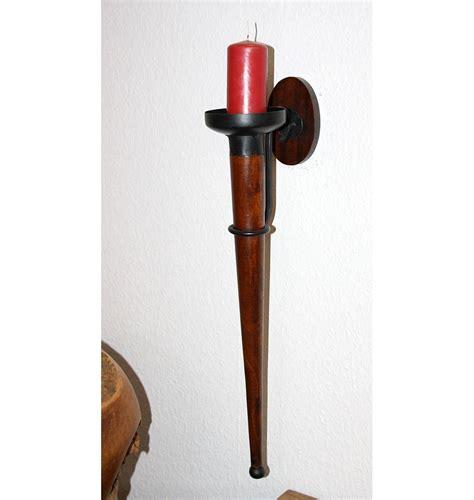 kerzen wandhalter holz wandkerzenhalter kerzenhalter wandhalter kerze antik fakel