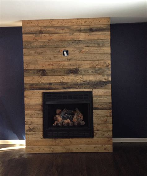 how to build fireplace surround how to create a diy reclaimed wood fireplace surround for