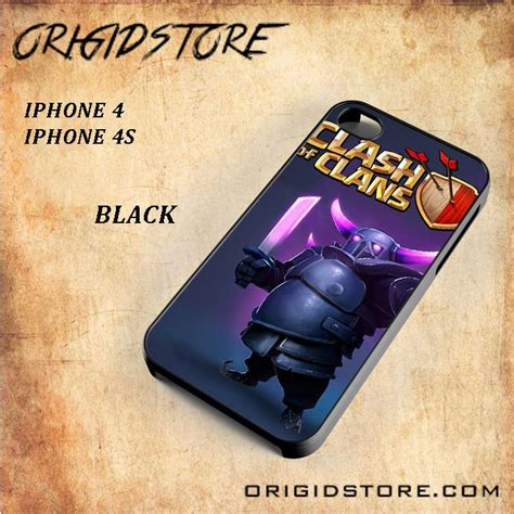 Clash Of Clans Iphone Rubber Soft 4 4s 5 5s 5c 6 6s Plus clash of clans pekka for iphone 4 4s snap on and 3d crarowa