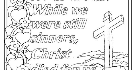 Romans 8 Coloring Page by Coloring Pages For By Mr Adron Romans 5 8 Print And