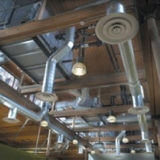 exposed duct work in the ceiling can give a contemporary