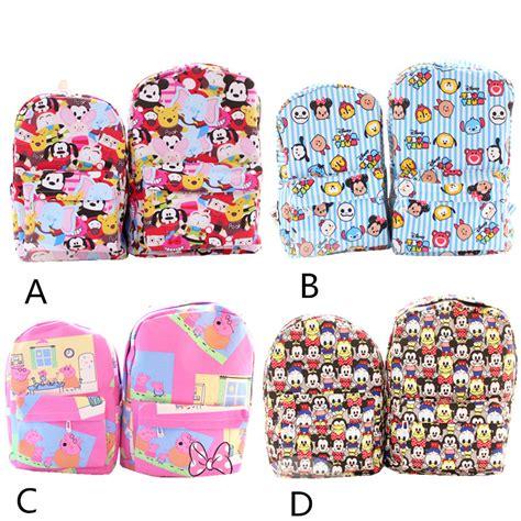 Tas Ultah Model Banner Tsum Tsum 2016 new tsum tsum printed canvas backpack to travel and leisure bag size models
